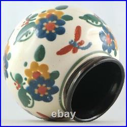 Vase LIBELLULES Céramique PAUL JACQUET Poterie SAVOIE Art Déco 30/sispa/jourdain