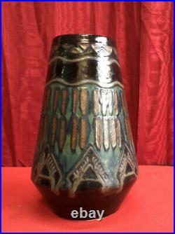 Vase Quimper Odetta Céramique Art Deco (rené Beauclair)