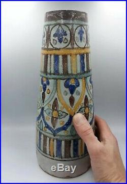 Vase ancien Nabeul Ben Sedrine Kharraz art deco nouveau ceramique tunisien