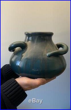 Vase ancien céramique ancienne antique french art Deco Pointu ceramic puisaye