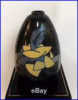 Vase art deco en céramique Signé S. Larrieu