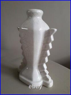 Vase art-déco en céramique signé Elgé