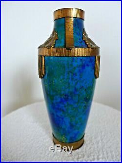 Vase balustre ceramique porcelaine SEVRES P. MILLET Bleu 1930 ART DECO