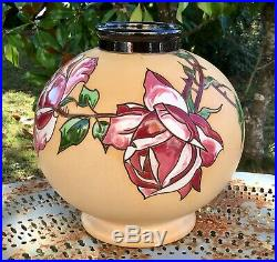 Vase boule faïence émaillée MONTIÈRES AMIENS céramique Art Nouveau Déco 1920-30