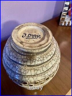 Vase ceramique Design art deco Doris Buthaud Tbe 28,5cm