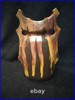 Vase céramique art déco terre cuite signé décoration