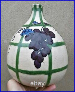 Vase céramique d'époque art nouveau art decoDécor vigneSignature à identifier