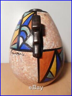 Vase céramique faience art déco céramiste belge Antoine DUBOIS Mons Belgique 1
