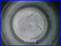 Vase céramique noire moderniste style bonifas pottery black art deco
