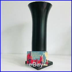 Vase cornet en faience céramique de Villeroy & Boch période Art Déco 1920-30