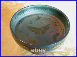 Vase coupelle céramique Art Déco signé Montieres