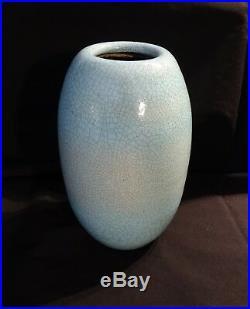 Vase craquelé des années 30-40 dans le gout de Besnard / Art Déco vase céramique
