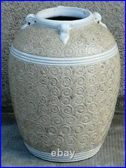Vase design style lenoble Pottery ceramique style art déco Decor spirales
