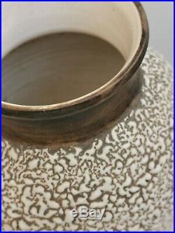 Vase en céramique crispée année 40 DLG Jean BESNARD