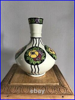 Vase en faïence, céramique art déco Charles Catteau, Décor 673, 1921