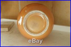 Vase gv boule céramique craquelé primavera radegonde longwy art déco 1940