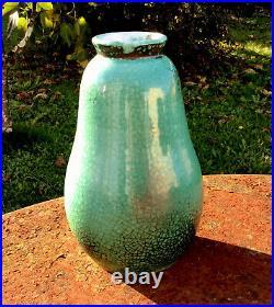 Vase poire faïence PRIMAVERA CAB n°4834, design Art Déco 1930, céramique vintage
