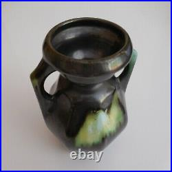 Vase poterie amphore céramique fait main art nouveau déco vintage Belgique N6357
