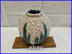 Vase rond émaillé art déco CAB céramique d'art bordeaux début XXe