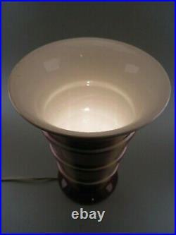 Vase tulipe cornet ART DECO 1930 en faïence de Villeroy & Boch monté en lampe