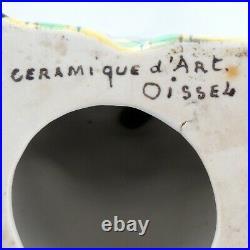 Veilleuse Céramique D' Art OISSEL CLOWN Art Deco1930/robj/limoges/aladin/lamp