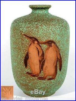 WMF Ikora Vase en Céramique° Pingouin Décoration° Art Déco Art Céramiques