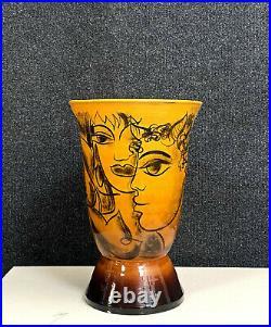 Yves Neveu grand vase de forme en céramique émaillée époque Art Déco vers 1930
